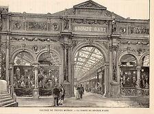 PARIS EXPO UNIVERSELLE EXIBITION GALERIE DE 30 METRES PORTE DU BRONZE D ART 1889
