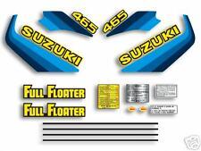 1982 Suzuki RM465 - complete 16 pc. decal set