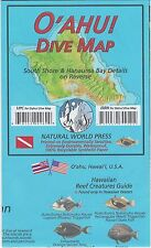 Oahu Hawaii Dive Map Waterproof Map by Frank Nielsen