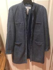 Size 18 Sag Harbor Long Suit Jacket Ladies Light Blue Professional Top Women's