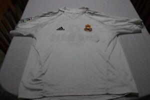 Maillot Real Madrid Vintage Adidas Taille L Publicid Siemens N°8 Baptista Shir