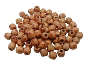 50 Pcs - Painted Wooden Ethnic Drum Beads 17mm Beads Jewellery Ethnic Craft F307