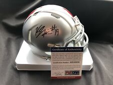 KJ Hill Signed Mini Helmet Ohio State Buckeyes Football Autograph PSA/DNA