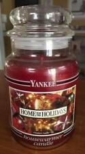 "Yankee Candle ""Home For The Holidays"" 22oz BLACK BAND JAR PRE-1988"