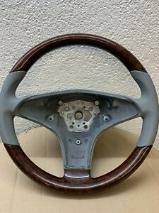Original Mercedes Steering Wheel Wood Burr Walnut Light Grey Sl r230 Models