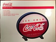 "18"" Coca Cola Backlit Neon Oval Sign"