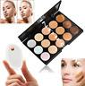 15 Colors Contour Concealer Face Cream Makeup Palette SILICONE Sponge Silisponge