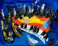 JAZZ MUSIC  Modern Abstract Original Painting Canvas Fine Art  Impressionist