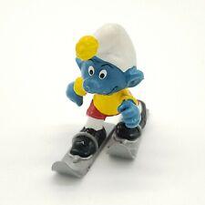 1978 Smurfs Skier Super Smurf Figure Toy Skiing Figurine 40205 vintage