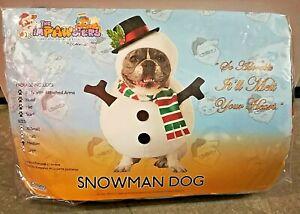 Pawsters Snowman Medium M Snow Man Themed Dog Halloween Christmas Jack Russel