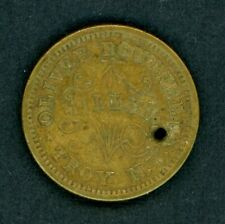 1863 Oliver Boutwell Miller Civil War Token Store Card Troy Ny