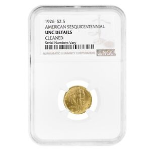 1926 $2.50 American Sesquicentennial Gold Coin NGC UNC Details