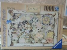 1000 piece  Ravensburger  puzzle, SEWING OLD STUFF.