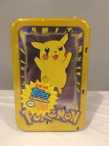 1998 Topps Pokemon Pikachu Tin Tv Animation Edition Factory Sealed