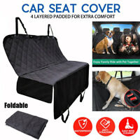 Pet Car Seat Cover Dog Safety Mat Cushion Rear Back Seat Protector Hammock Black