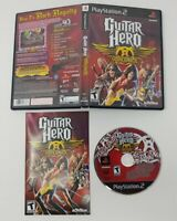 Guitar Hero: Aerosmith (Sony PlayStation 2, 2008) PS2 CIB Complete and Tested