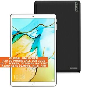 P30 3G PHONE Call Tablet 2gb 32gb Octa-Core 10.1 Inch Dual Sim Wi-Fi GPS Android