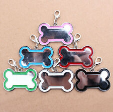 Puppy Pet Cat Dog Bone ID Name Collar Personalized Tag Not Engraved 1pc