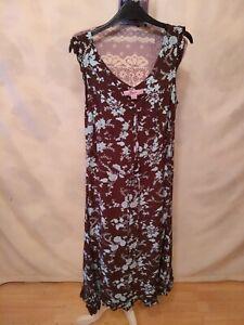 Monsoon Dress size 10     Sleeveless V Neck Brown,Mix