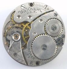 Vintage Waltham Wristwatch Movement - Grade 461 - Model L-10 -  Parts / Repair