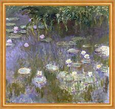 Water Lilies Claude Monet Wasserlilien Blüten Lila Pflanzen Teich B A1 01272