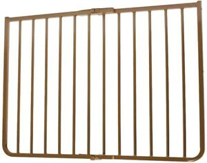 Safety Gate 30 in. H x 27 in. to 42.5 in. W x 2 in. D Aluminum Outdoor in Brown