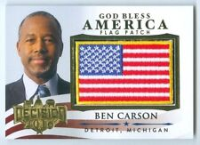 """BEN CARSON """"GOD BLESS AMERICA FLAG PATCH CARD"""" DECISION 2016!!!"""