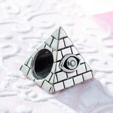 CHARM ARGENT STERLING 925 PYRAMIDE OEIL