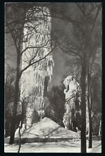 Clear Lake Iowa IA circa 1950s PC, The Frozen in 1894 City Park Stand Pipe Tank