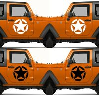 Set of 2 America US U.S. United States Army Star Vinyl Decal Sticker V13