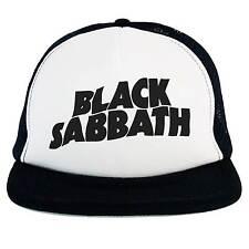 Cappello Black Sabbath, Trucker cap nero bianco musica Hard Rock Heavy Metal hat