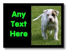American Bulldog Perro Personalizado De Mesa De Comedor Individuales