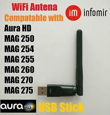 New USB Wi Fi Antenna for all Jynxbox  Models & Aura HD & Mag 250, 254 & Linkbox