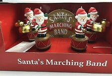 Mr. Christmas Santa's Marching Band Musical Bells SANTA Figurines ** NEW **