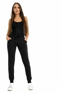 Women's Jogging Fleece Bottoms Joggers Ladies Casual Trousers Cuffed Gym S - XL