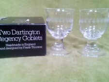 Dartington Crystal 'Regency' Design Wine Goblet FT118 Frank Thrower with box x 2