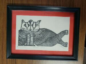 Etching By Carol Travers Lummus Titled Pousse Cafe Signed Artist Proof