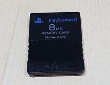 PS2 Negro 8mb Tarjeta de memoria Oficial Original Sony Playstation 2 PS2 limpiado Probado