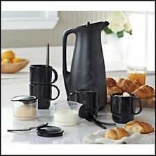 TUPPERWARE 11 Pc COFFEE HOUSE CARAFE THERMOS MUGS SUGAR CREAMER SPOONS NEW