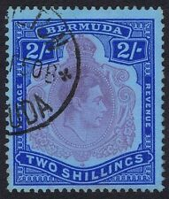 Bermuda 1938 SG116e/f  2/- Purple & Blue Perf 13 Superb Used unchecked