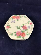 Genuine Takahashi San Francisco Small Trinket Box With Butterfly's And Flowers