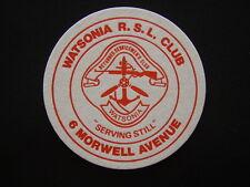 WATSONIA RSL CLUB 6 MORWELL AVENUE COASTER