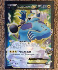 Pokemon Card  THUNDURUS EX  Ultra Rare FULL ART 98/108  ROARING SKIES ***MINT***