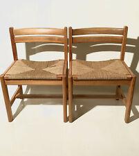 2x Børge Mogensen Asserbo Chairs Karl Andersson & Sons 1960s Danish Design