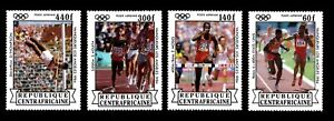 Olympic Central African Republic 1985 set of stamps Mi#1086-89 MNH CV=10€