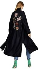 Stunning Zara Velvet Embroidered Kimono Jacket Rare Sold Out BNWT Medium