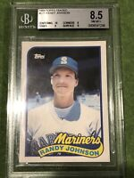 1989 Topps Traded Randy Johnson Rookie RC #57T BGS 8.5 NM-MT Mint Mariners
