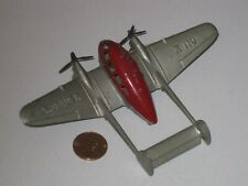 Tootsietoy Airplane, Crusader, Red & Silver, Original,1937, Vintage Toy Airplane