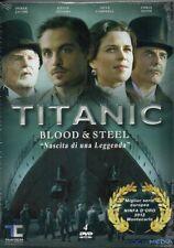 TITANIC BLOOD & STEEL - NASCITA DI UNA LEGGENDA - BOX 4 DVD (NUOVO SIGILLATO)