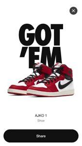 Air Jordan 1 KO - Size 10.5 - AJKO 1 Retro High OG Chicago *Confirmed Order*